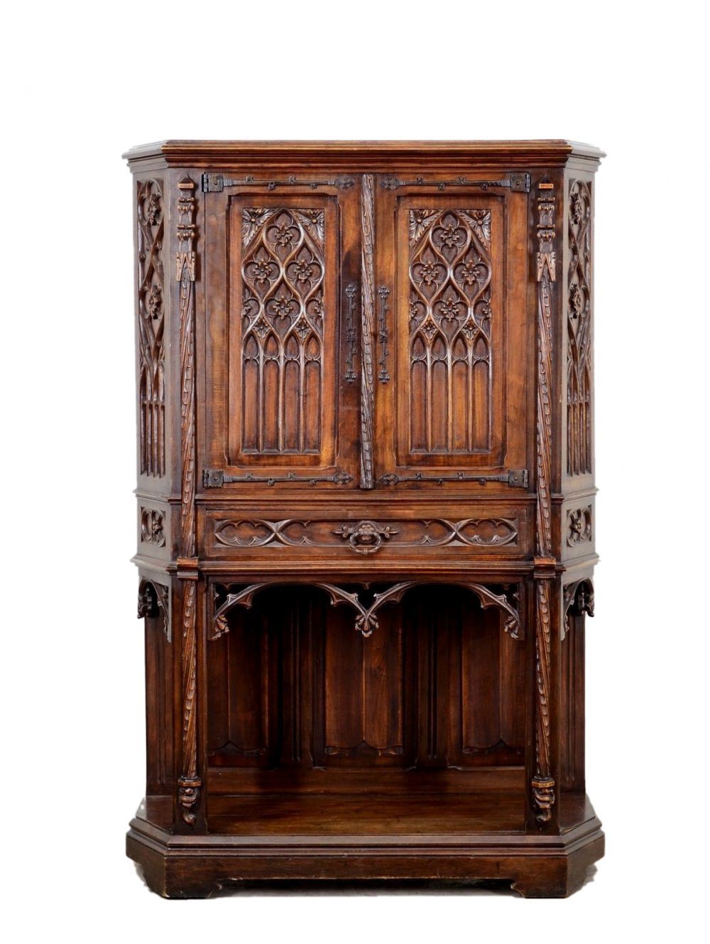 antique-french-gothic-cabinet