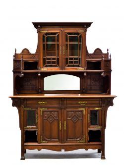 French Art Nouveau Antique Buffet